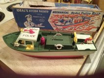 1950's Toy Mechanical Harbor Police Boat in Bartlett, Illinois