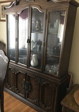 Wooden glass cabinet in Columbia, South Carolina