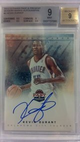 KEVIN DURANT certified authentic basketball card, autographed in Okinawa, Japan
