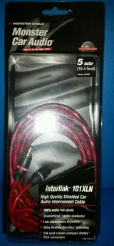 MONSTER car audio cable, 16 feet; price per unit, new in Okinawa, Japan