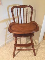 Wooden high chair in Naperville, Illinois