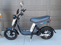 Electric moped in Huntington Beach, California