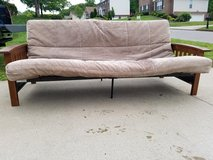 Tan / Microfiber / Wood / Metal Futon in Clarksville, Tennessee