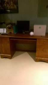 Brown desk in Naperville, Illinois