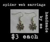 SPIDER WEB EARRINGS handmade by me in Fort Benning, Georgia