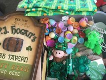Easter & St Patty's Day decorations in Okinawa, Japan