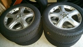 Mercedes Ml rims with summer tires in Ramstein, Germany