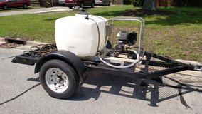 Pressure washer, commercial spray rig trailer mounted in Camp Lejeune, North Carolina