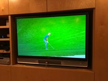 : ) SONY 55 INCH LCD FLAT SCREEN HD TV WORKS GREAT in Naperville, Illinois