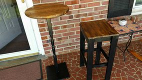 Pub table black base plus 1 stool in Fort Bragg, North Carolina