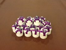 Beautiful gift boxes  purple flowers on top 21 pieces in Lockport, Illinois