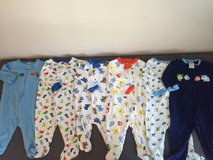 0-3 M Footed Jammies/1 piece (11 total) in Camp Lejeune, North Carolina