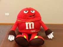 Red M&M suffed toy in Naperville, Illinois