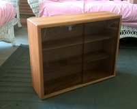 Oak CD Rack with Glass Doors in Orland Park, Illinois