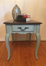 Accent Side Table in Blue with Java Stained Top in Bolling AFB, DC