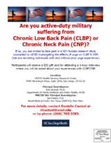 OPTYM - Overcoming Pain through Yoga in the Military Study in Oceanside, California