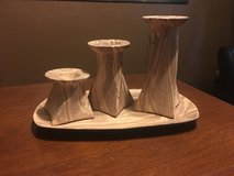New three-piece ceramic candle holder in Bellaire, Texas