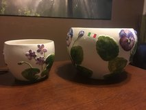 Two flower pots Italian hand made in Bellaire, Texas