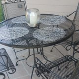 wrought Iron Patio Set in Kingwood, Texas