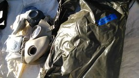 A chemical suit and a few chemical mask and components in Camp Lejeune, North Carolina
