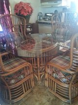 "Fantabulous ""GLASS & RATTAN"" Dining Set in Las Cruces, New Mexico"