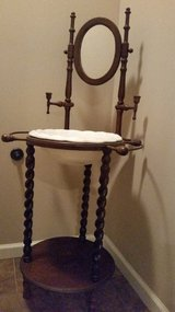 Antique Wash Stand with Bowl, Candle Holders, & Towel Rack in Hopkinsville, Kentucky