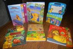 6 Interactive Disney Lion King Book Lot Movie Theater Look & Find Etch & Sketch Counting Musical + in Houston, Texas