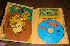Disney Lion King CD & Cassette Tape Read-A-Long PB Book In Case in Houston, Texas