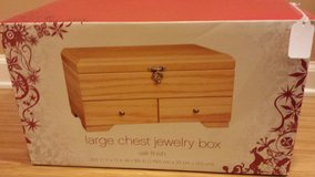 New!  Large Chest Jewelry Box - Oak Finish in Lockport, Illinois