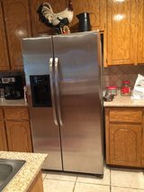 25 ft.³ side-by-side stainless steel refrigerator. in Lawton, Oklahoma