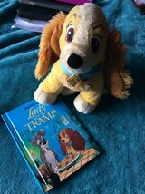 Disney store 'Lady' from lady & the tramp teddy & book very collectible in Lakenheath, UK
