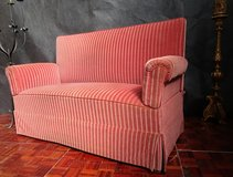 Antique Highback Red Sofa in Ramstein, Germany