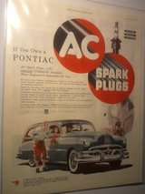 Original Vintage AC Spark Plugs Full Page Ad in Clarksville, Tennessee