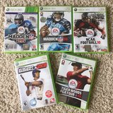 Sports Bundle 5 games-XBOX 360 in Lockport, Illinois