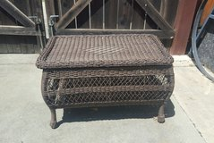 Wicker Table w/ Storage * see measurements on box* no box!! in Travis AFB, California