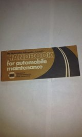 Napa Auto Parts Handbook Automobile Maintenance circa 1970s in Elgin, Illinois