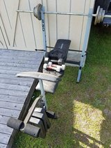 Weight Bench with weights in Camp Lejeune, North Carolina