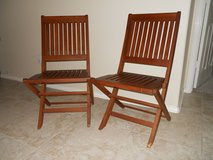 Folding Teak Chairs, 2 in Baytown, Texas