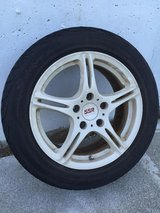 SSR forged white wheels, 16 inch , used in Okinawa, Japan