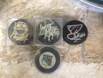 Wayne Gretzky real autographed hockey pucks in Temecula, California