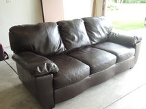 Brown Leather Couch, excellent condition! in Bartlett, Illinois