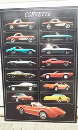 "Corvette History Poster 1957 - 1994 24"" x 36"" in Bartlett, Illinois"