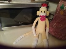Yellow Sock Monkey in Elgin, Illinois