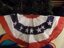 "Patriotic Bunting 2-Sided Pleated Flag 58"" x 27"" in Chicago, Illinois"