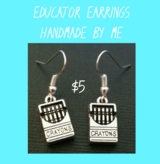 EDUCATOR EARRINGS ~ HANDMADE BY ME in Fort Benning, Georgia