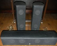 3 Yamaha Surround Sound Speakers NS-AP8805BLS & NS-AP8805BLC in Houston, Texas