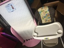 toddler pink bed with matress in Fort Lewis, Washington