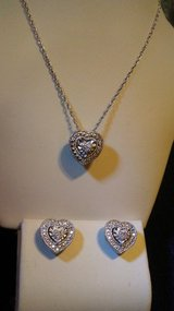 Heart necklace & earrings in Perry, Georgia