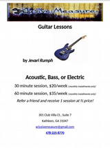 Private Guitar Lessons in Macon, Georgia