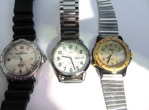 3 Men's TIMEX Watches (NEW BATTERIES IN ALL 3) in Eglin AFB, Florida